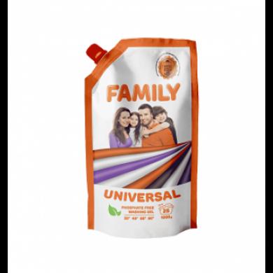 Гель для прання універсальний 1000 г (DOYPACK) FAMILY
