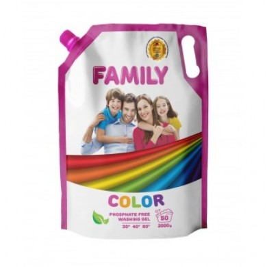 Гель для прання кольорових речей 2000 г (DOYPACK) FAMILY