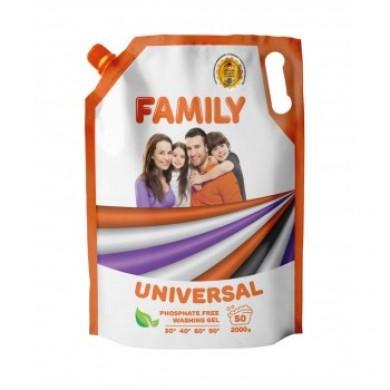 Гель для прання універсальний 2000 г (DOYPACK) FAMILY