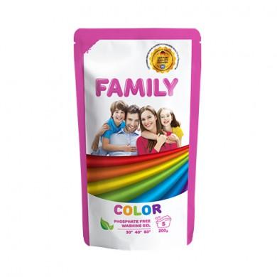Гель для прання кольорових речей 200 г (DOYPACK) FAMILY