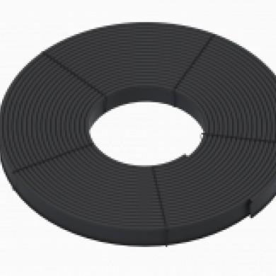 Бордюр Кантрі Б-8000.2.11 пластиковий чорний Standartpark 82401/80