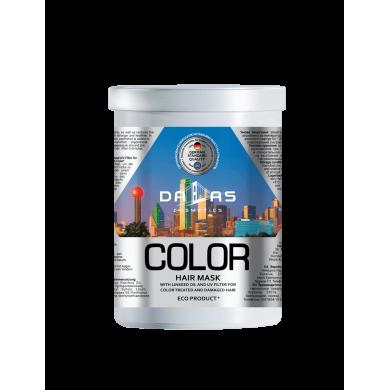 Маска для фарбов.волосся з лляною олією і УФ-фільтром,1000мл DALLAS COLOR