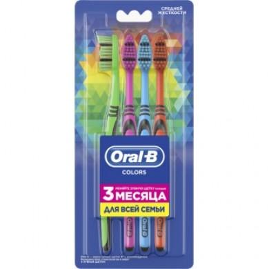 Зуб.щітка ORAL-B Color 40 середня 4 шт
