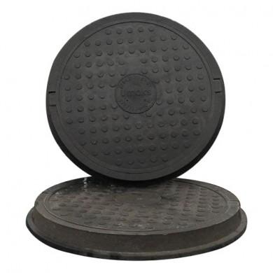 Люк каналізаційний /до1,0 т. чорний (легкий)