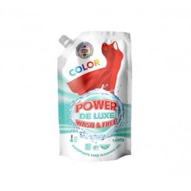 Гель для прання кольорових речей 1000г(DOYPACK) PW DE LUXE