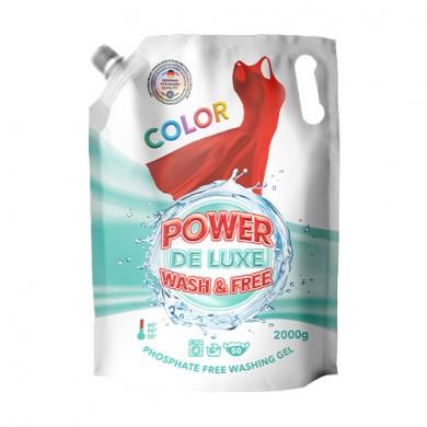 Гель для прання кольорових речей 2000г(DOYPACK) PW DE LUXE
