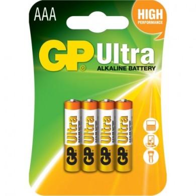 Батарейка GP 24AU-U4 лужна.LR3,ААА, біл+зол. блістер*4