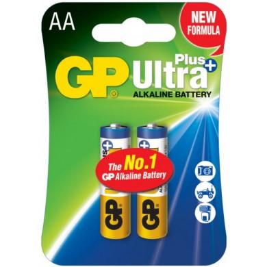 Батарейка GP 15AU-U2 лужна.LR6,АА, біл+син. блістер*2