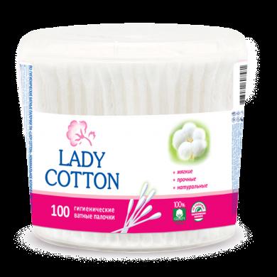 Вата на пал.Lady Cotton кр.б (100шт)