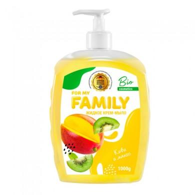 """Рідке мило-крем """"Ківі та манго """" 500 г FamilY"""
