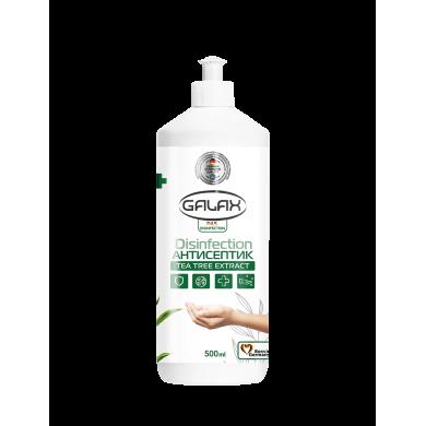 Рідина для рук антисептична з екстрактом чайного дерева S 500мл GALAX dax Desinfection