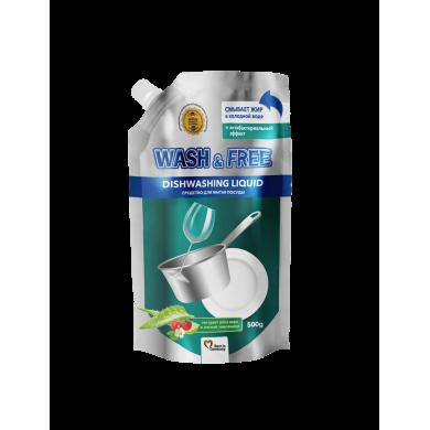Засіб для миття посуду 500г WASH $ FREE екстр.алоє та лісова суниця(Doypack)
