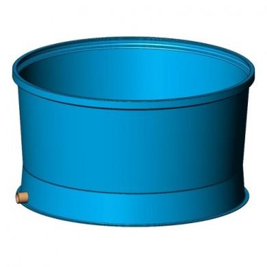 Басейн для риби 3900 (колір блакитний)  Ø2400х1302