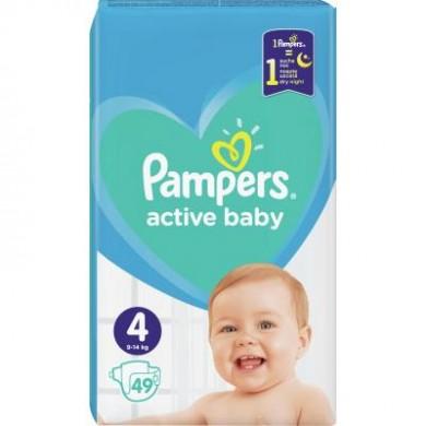 Підгузники дит.PAMPERS Active Baby Maxi(9-14кг) економ.уп.49