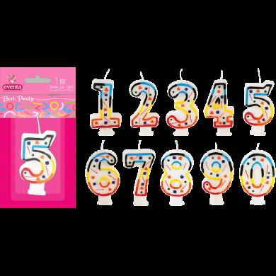 Свічки EVENTA для торту цифри (0)