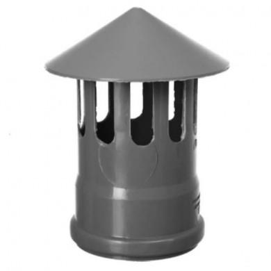 Вентеляційний грибок ПВХ Ø110 сірий ( зовнішній )
