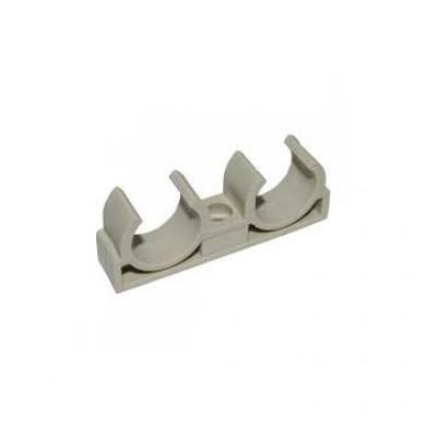 PPR кріплення труби 20 подвійне(в уп 50 шт) 1*20