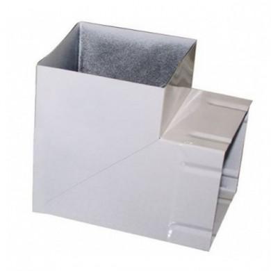 Коліно для витяжки 90х90° біле