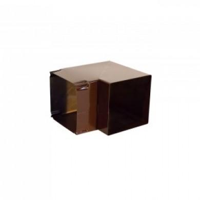 Витяжка - Коліно 90х90° коричневе