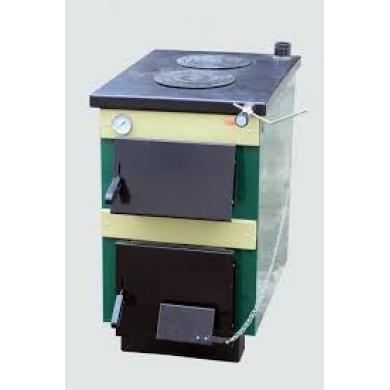 Котел твердопаливний ТИВЕР-КП 18 кВт плита