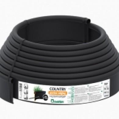 Бордюр Кантрі Б-1000.2.11 пластиковий чорний Standartpark 82401