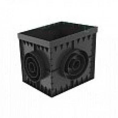 Дощоприймач PolyMax Basic ДП-30, 30-ПП пластиковий чорний Standartpark 8370-Ч