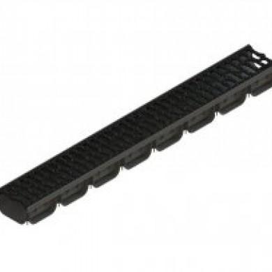 Лоток водовідвідний PolyMax Basic ЛВ-10.14.07-ПП пластиковий з решіткою чавунноюStandartpark 08813