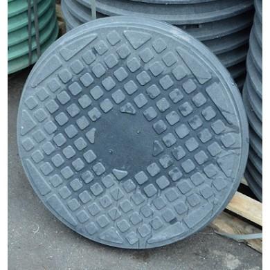 Люк каналізаційний 1,0 т. чорний