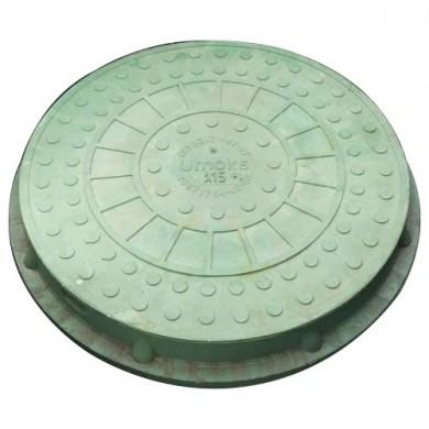 Люк каналізаційний 1,5-3 т. зелений з замком