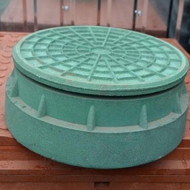 Люк каналізаційний D 315 зелений