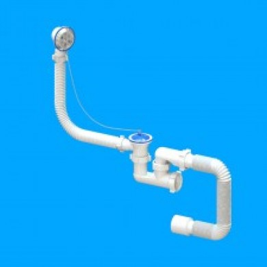 Сифон для ванни регулюючий  метал FLATSteamer  40*50