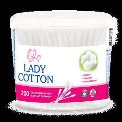 Вата на пал.Lady Cotton кр.б (200шт)