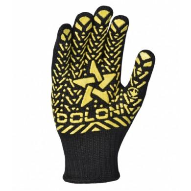"""Рукавиці 562 чорна """"Жовта зірка""""ПВХ (1шт)"""