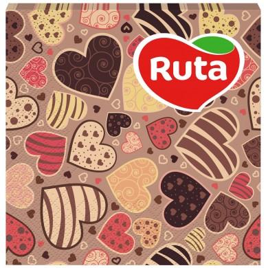 Серв.Ruta33*33 Серце з друком аром.(20шт)