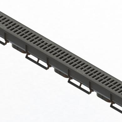 Лоток водовідвідний PolyMax Basic ЛВ-07.09.09-ПП пласт.з решіткою пластик(комплект) 088081-М