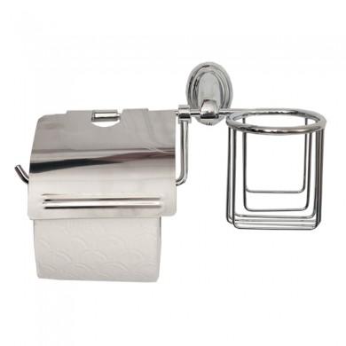 Ак Тримач туалетного паперу та освіжувача з кришкою WAL-KLO1-DL 10шт/уп