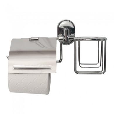 Тримач туалетного паперу та освіжувача з кришкою WAL-KLO2-DL 10шт/уп