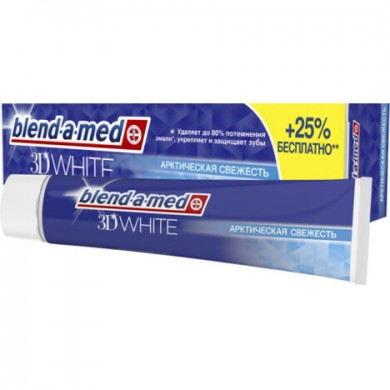 Зуб. паста BLEND-A-MED 3D White Арктична свіжість 125мл